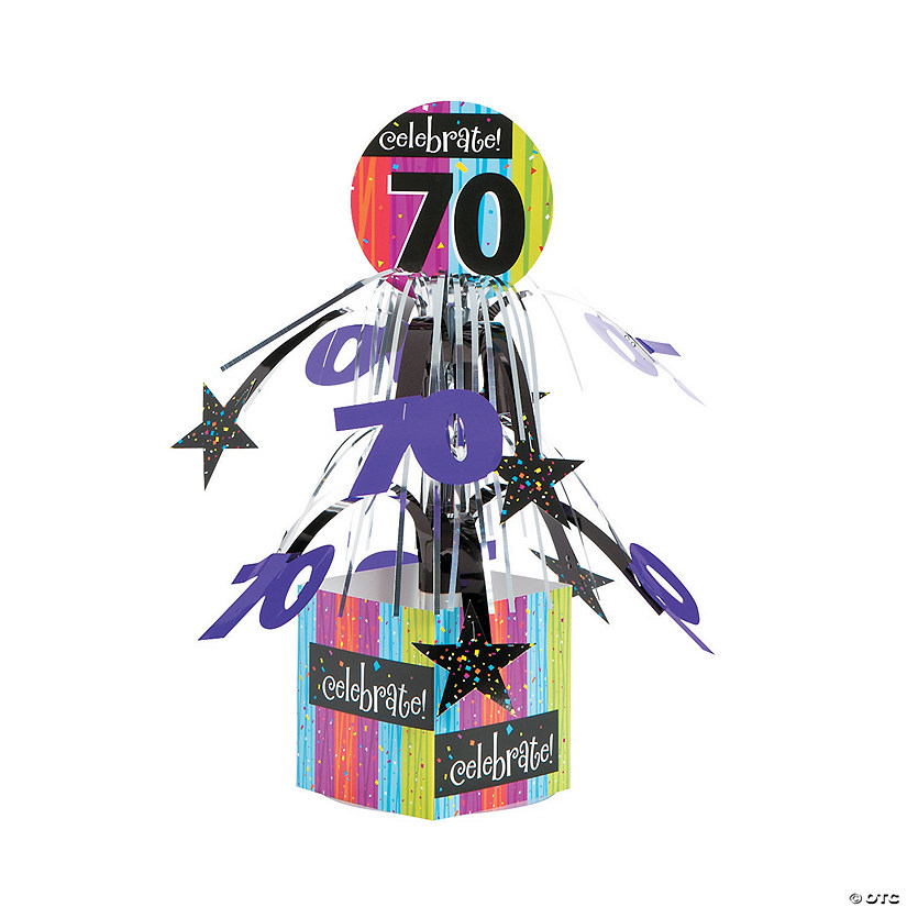Celebrate Milestone 70th Birthday Centerpiece