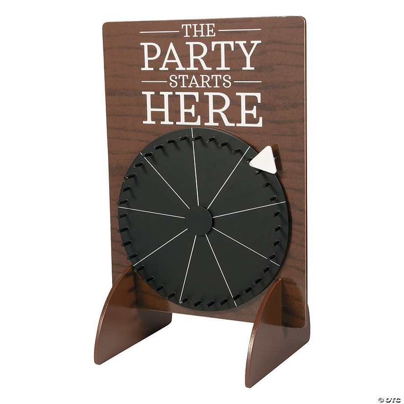 Chalkboard Wedding Prize Wheel Game