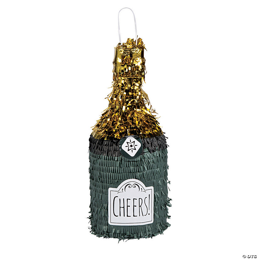 Champagne Bottle-Shaped Piñata