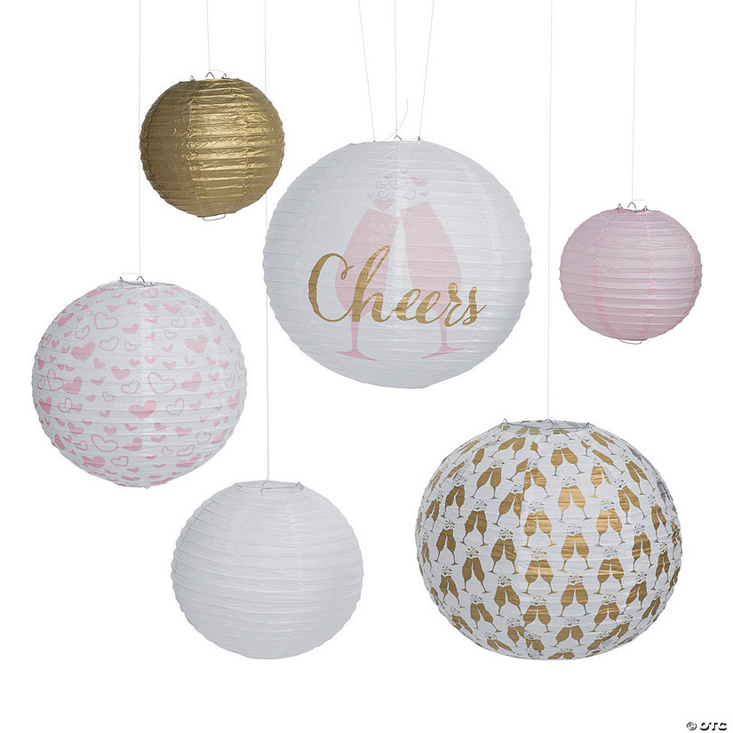 Cheers Printed Hanging Paper Lanterns