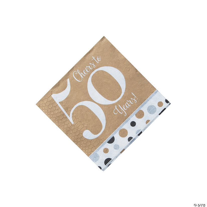 Cheers to 50 Years Beverage Napkins