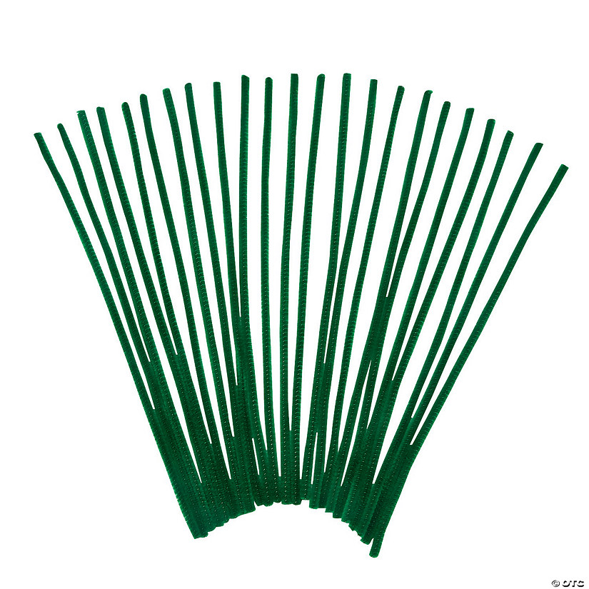 Chenille Stems - Green