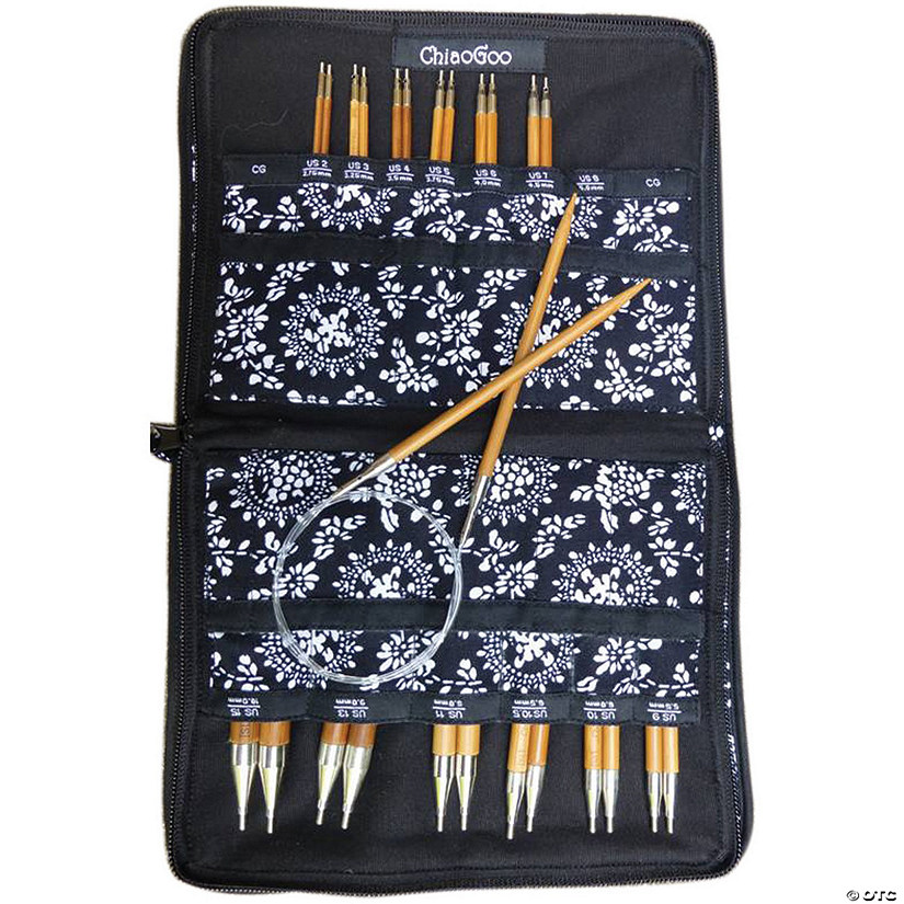 "Chiagoo Bamboo Interchangeable Knitting Needle 5"" Tip Set"