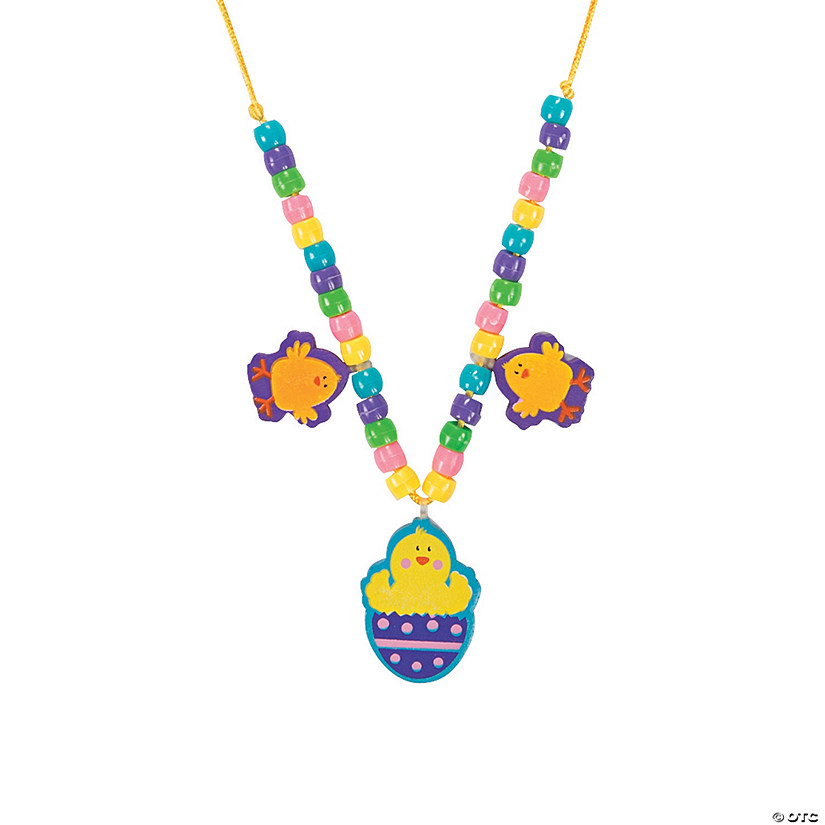Chick in Egg Beaded Necklace Craft Kit