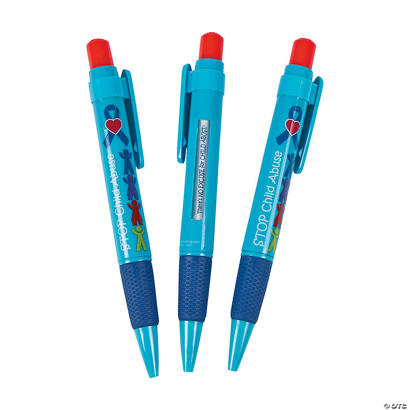 Child Abuse Awareness Message Pens