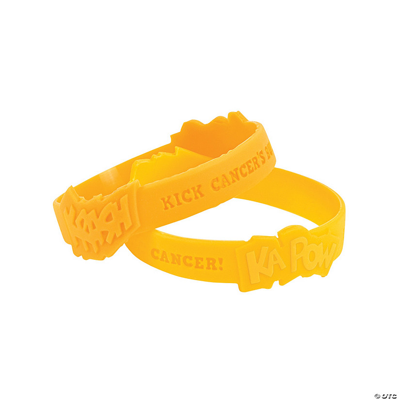 Childhood Cancer Awareness Rubber Bracelets