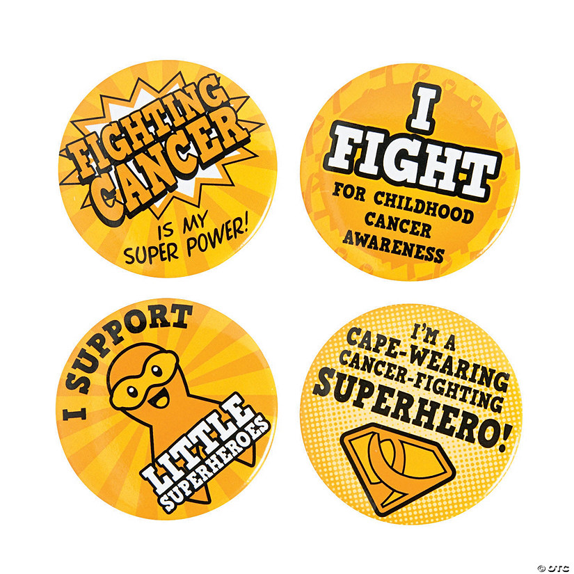 Childhood Cancer Superhero Buttons