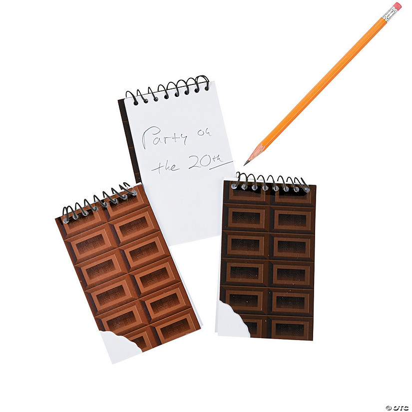 Chocolate Bar Spiral Notepads