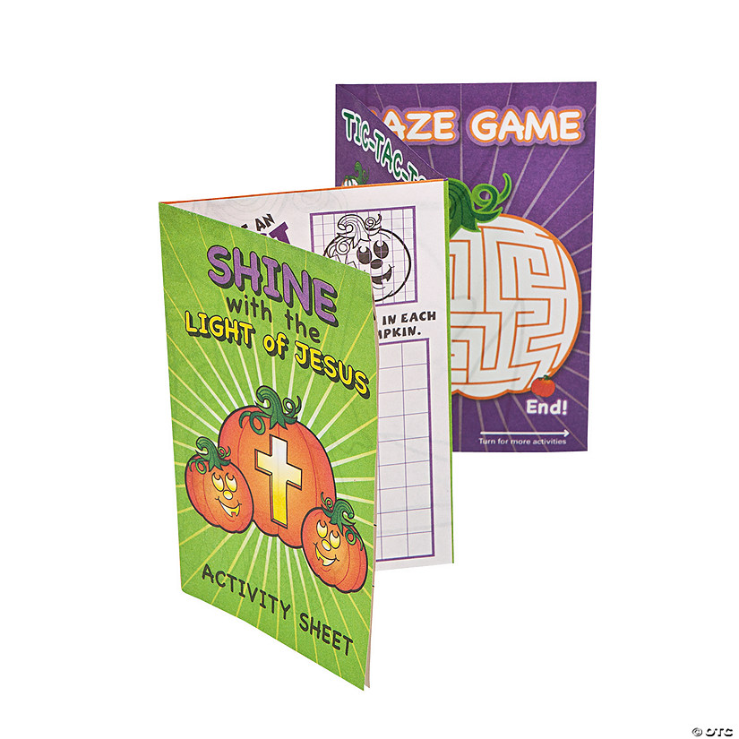 Christian Pumpkin Fold-Up Activity Sheets