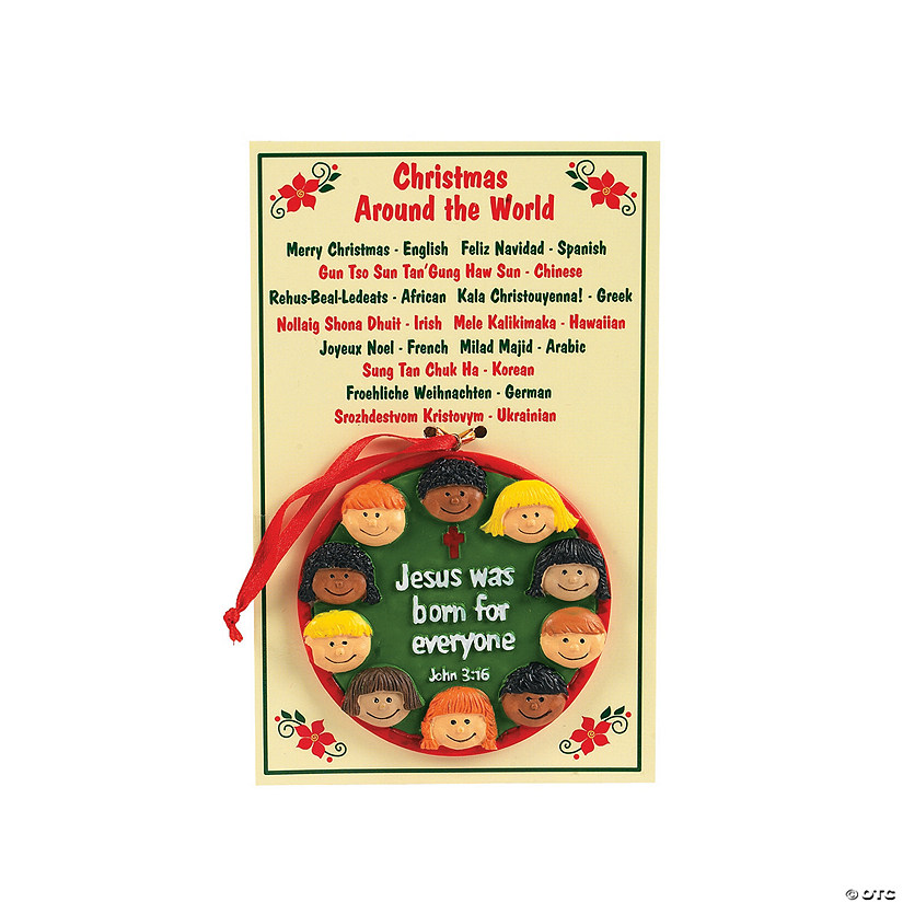 """Christmas Around the World"" Christmas Ornaments with Card"