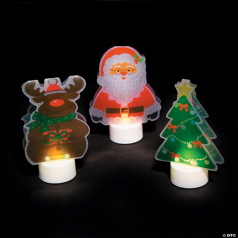 Christmas Character Battery-Operated Votive Candles