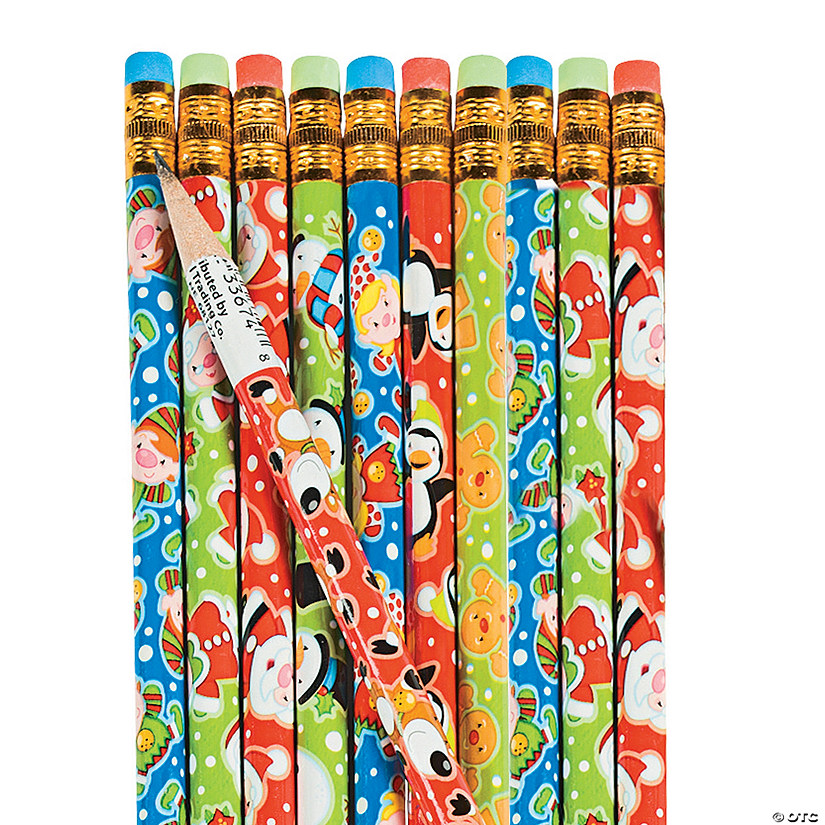 Christmas Characters Pencil Assortment