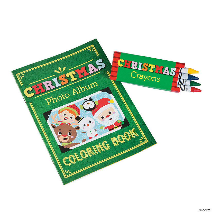 Christmas Coloring Books with Crayons