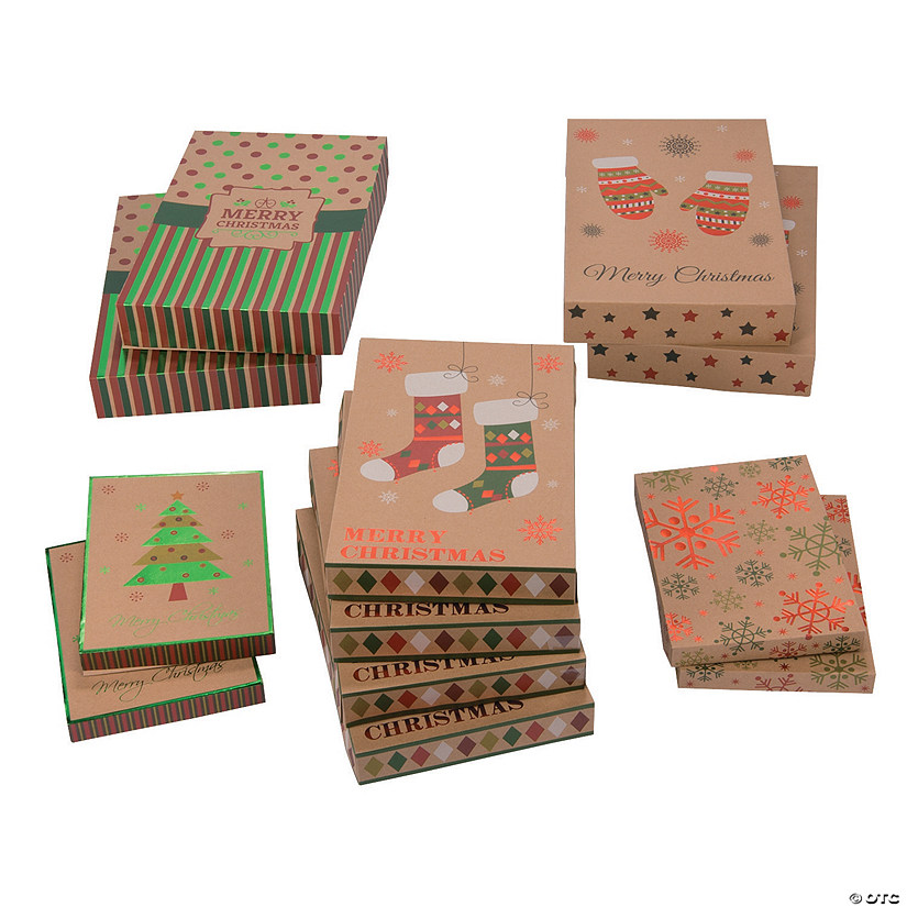 Christmas Foil Gift Boxes