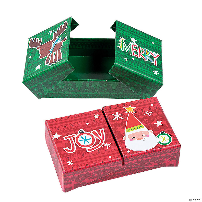Christmas Fold-Out Favor Boxes