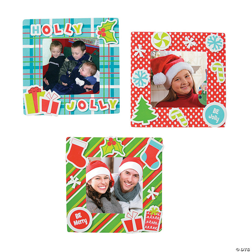 Christmas Picture Frame Magnet Craft Kit Assortment