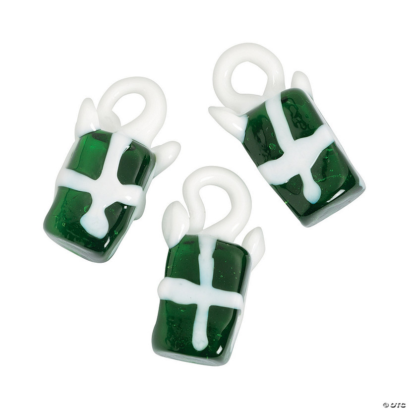 Christmas Present Premium Glass Charms