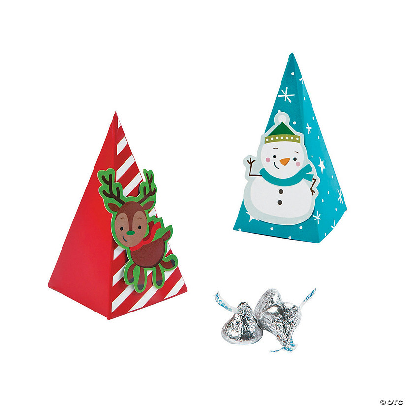 Christmas Pyramid Favor Boxes