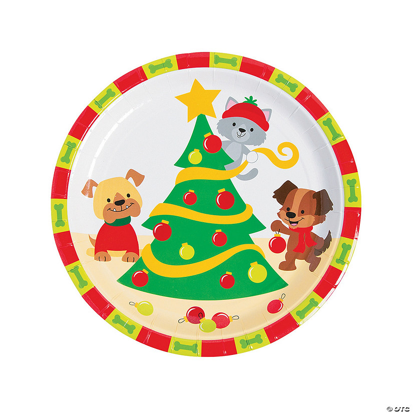Christmas Tails Dinner Plates