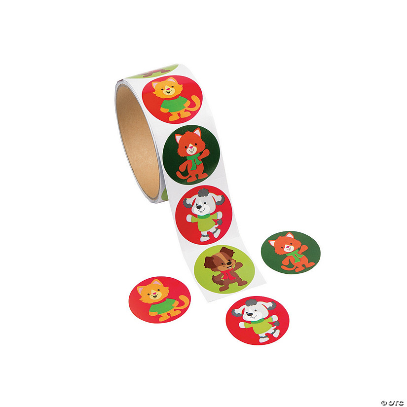 Christmas Tails Sticker Rolls