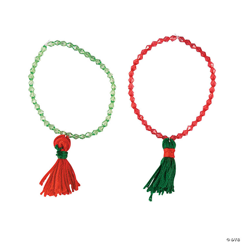 Christmas Tassel Bracelet Craft Kit