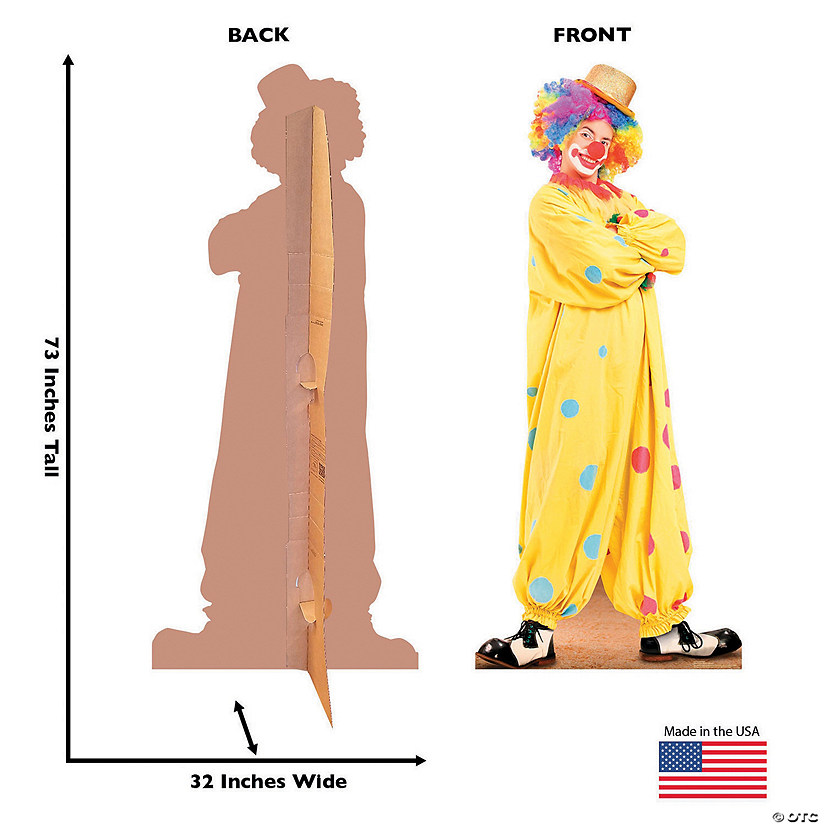Circus Clown Cardboard Stand-Up