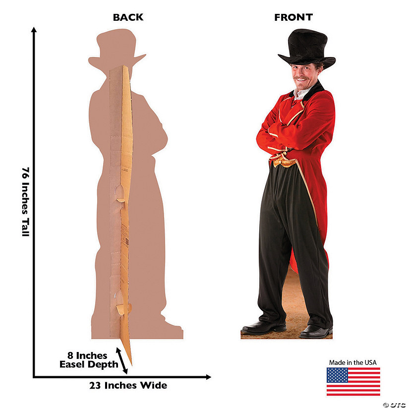 Circus Ringmaster Cardboard Stand-Up