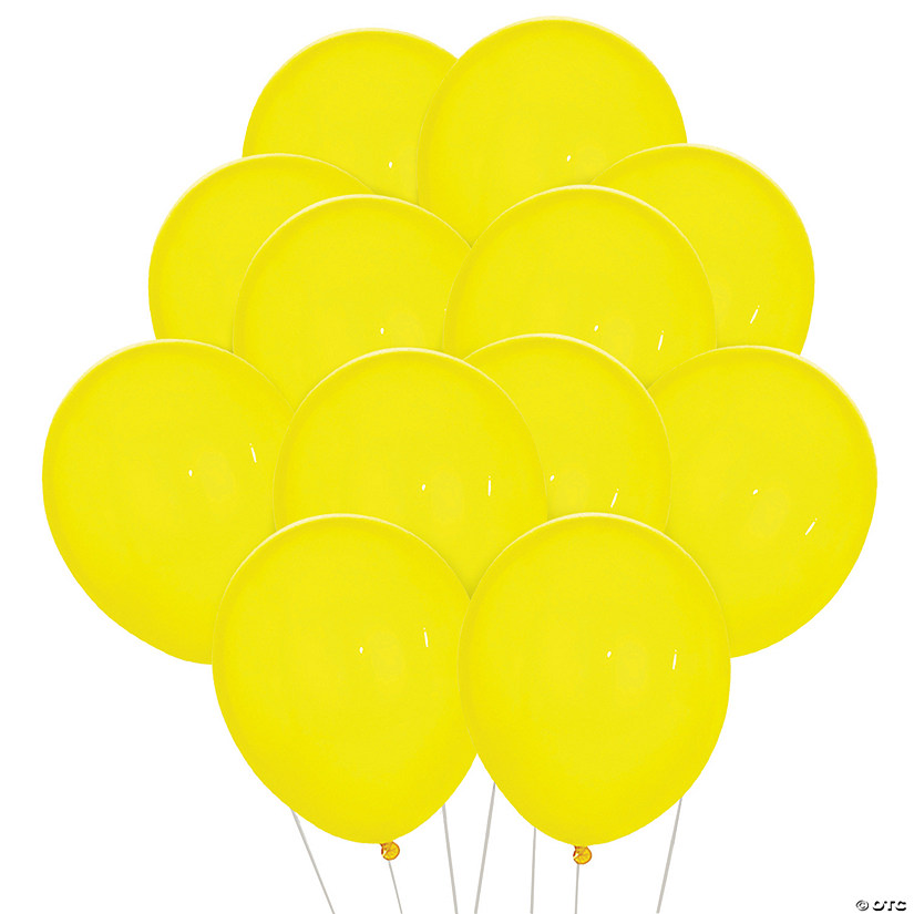 "Citrine Yellow 11"" Latex Balloons"