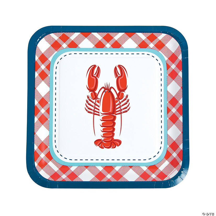 Clambake Square Paper Dinner Plates