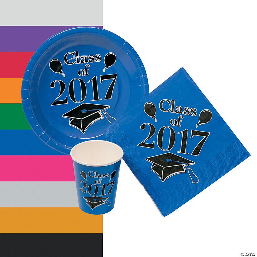 Class of 2017 Graduation Party Tableware Set