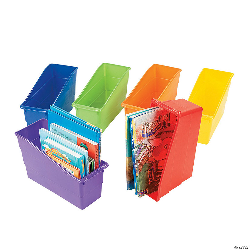 sc 1 st  Oriental Trading & Classroom Organizer Book Storage Bins