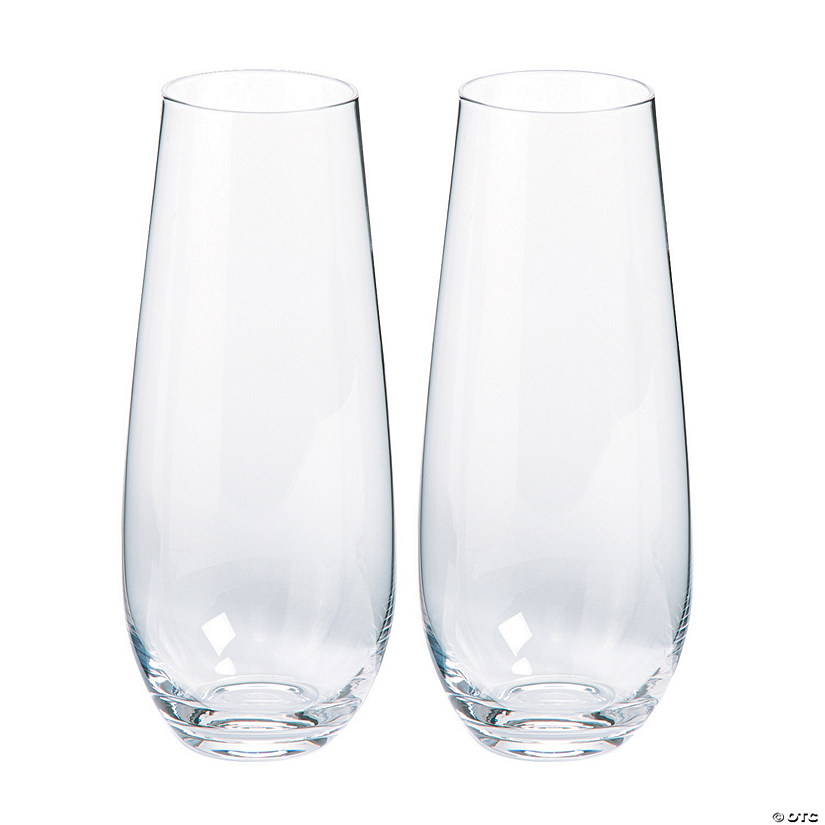 Clear Bullet Bud Glass Vases
