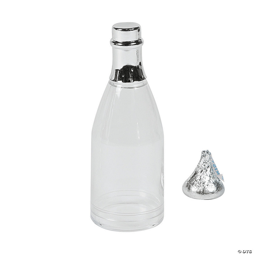 Clear Champagne Bottle Favor Containers