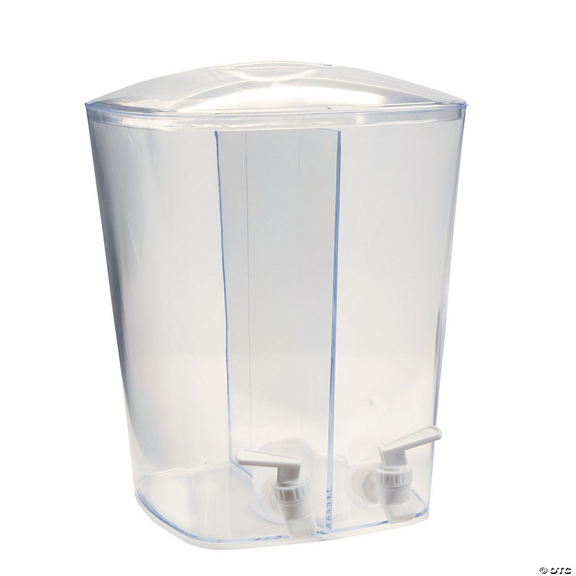 Clear Divided Beverage Dispenser
