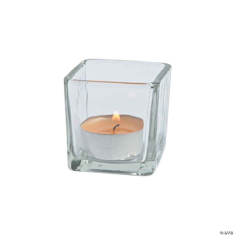 Clear Square Votive Holders