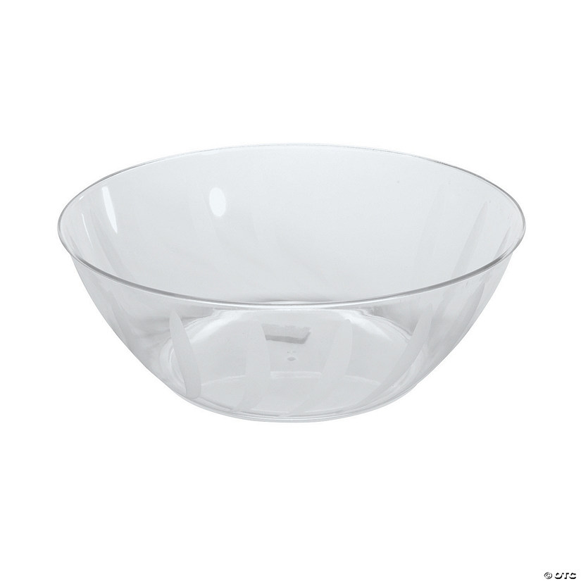 Clear Swirl Serving Bowl