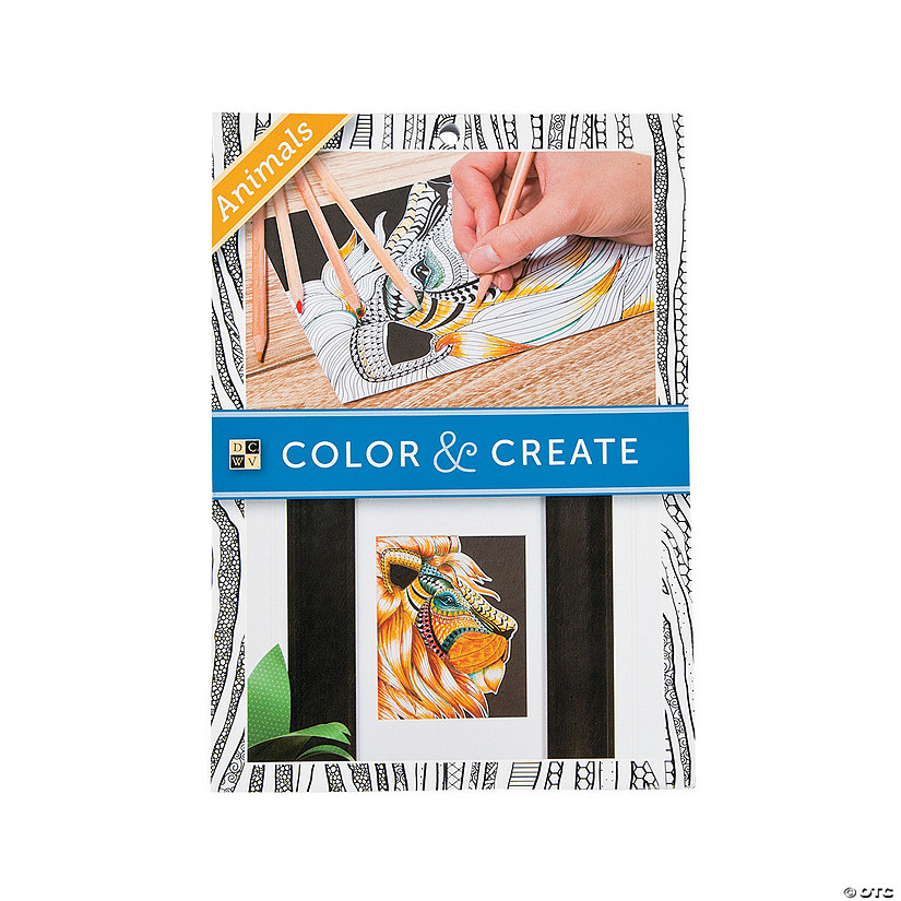 Color and Create: Animals Adult Coloring Book