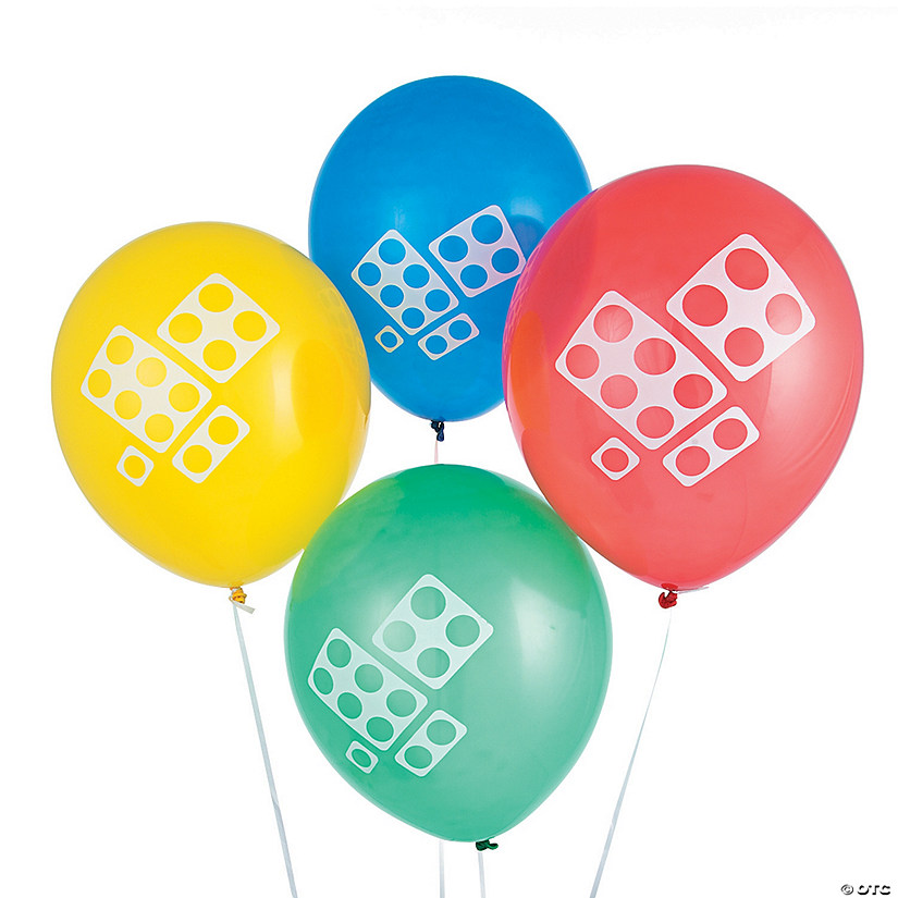 Color Brick Party Latex Balloons