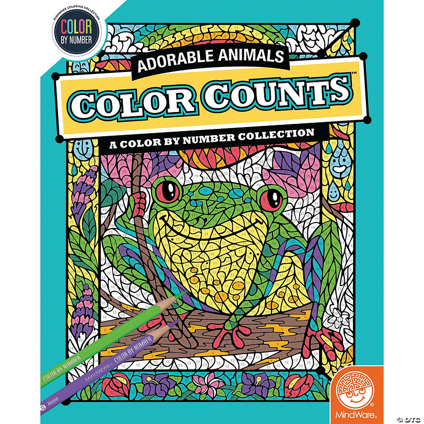 Color By Number Counts Adorable Animals