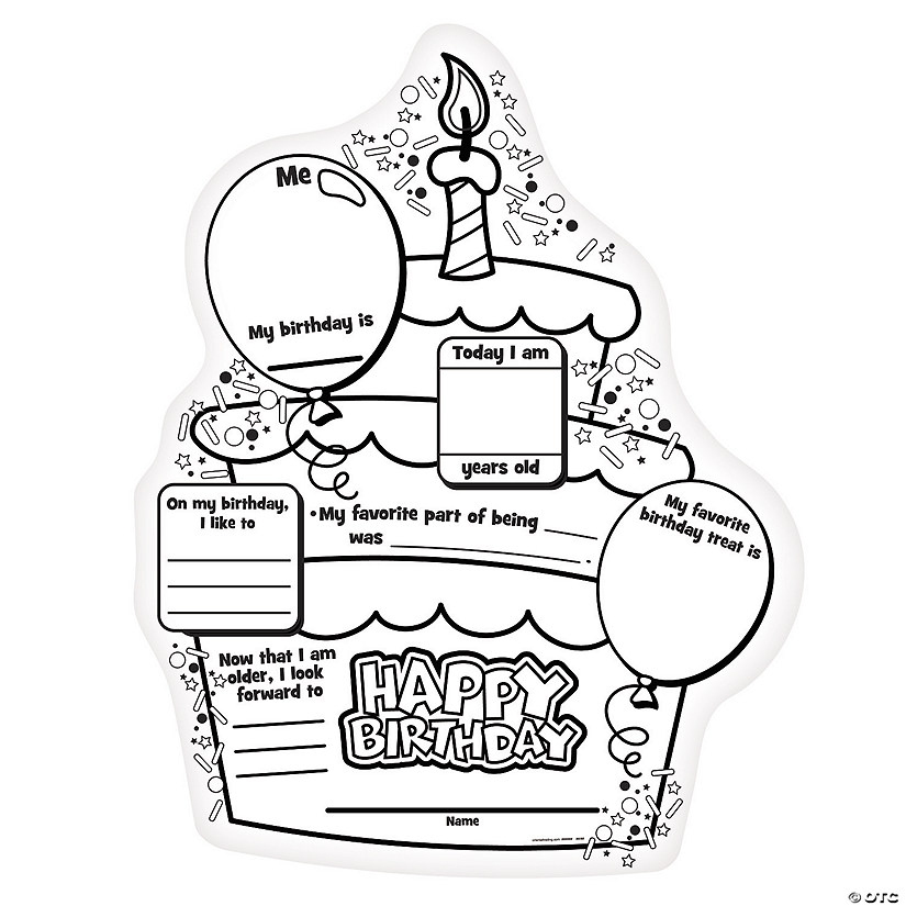 "Color Your Own ""All About My Birthday"" Posters"