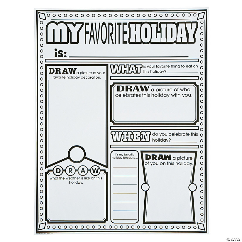 "Color Your Own ""All About My Favorite Holiday"" Posters"