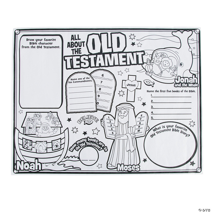 Color Your Own All About The Old Testament Posters