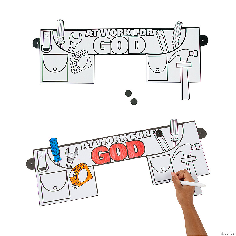Color Your Own At Work For God Tool Belts
