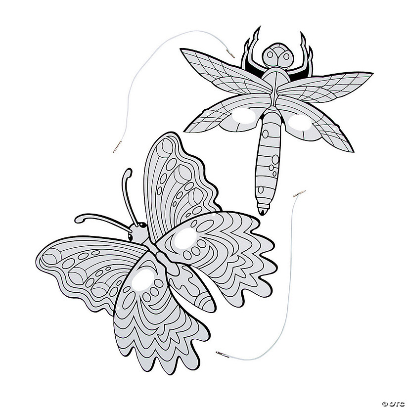 Color Your Own Bug & Butterfly Masks