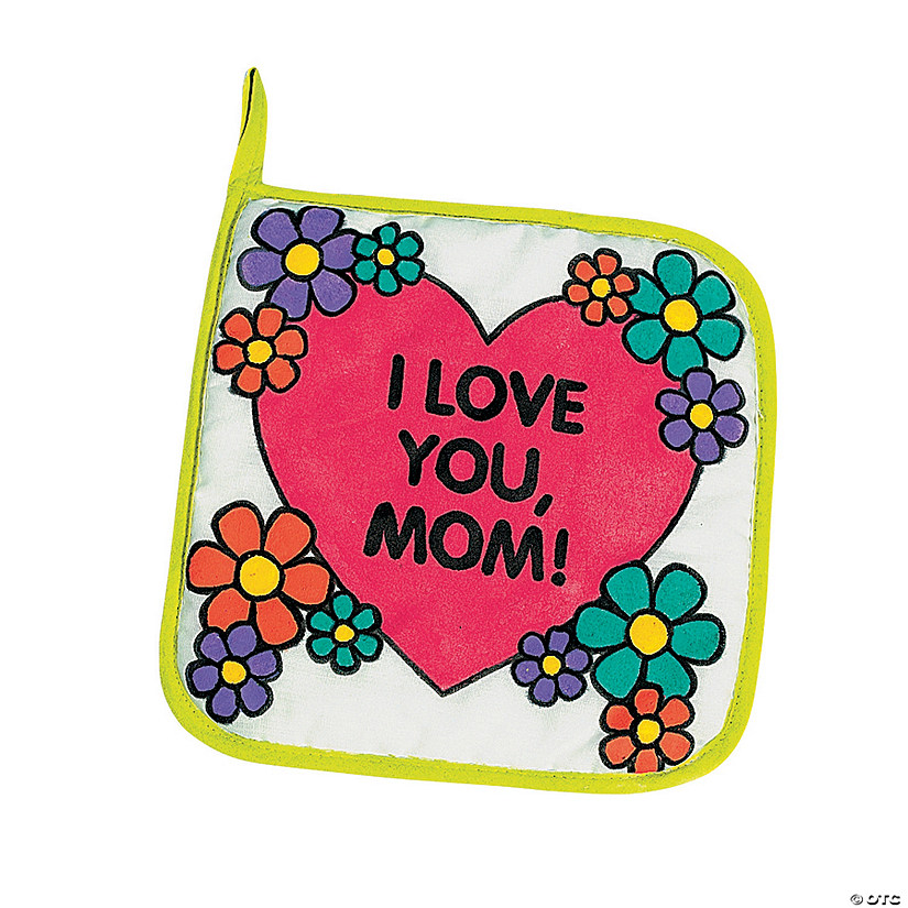 Color Your Own Canvas Mom Pot Holders