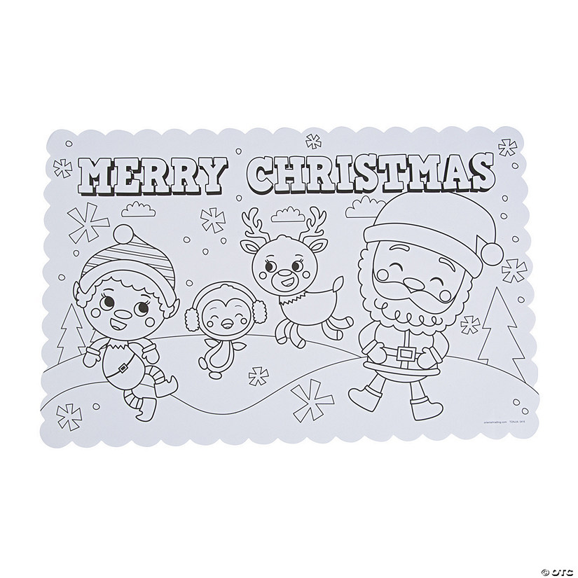 Color Your Own Religious Christmas Ornaments: Color Your Own Christmas Placemats