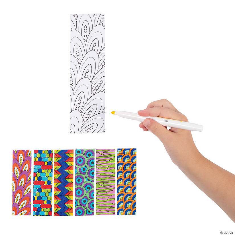 Color Your Own Cool Doodle Bookmarks