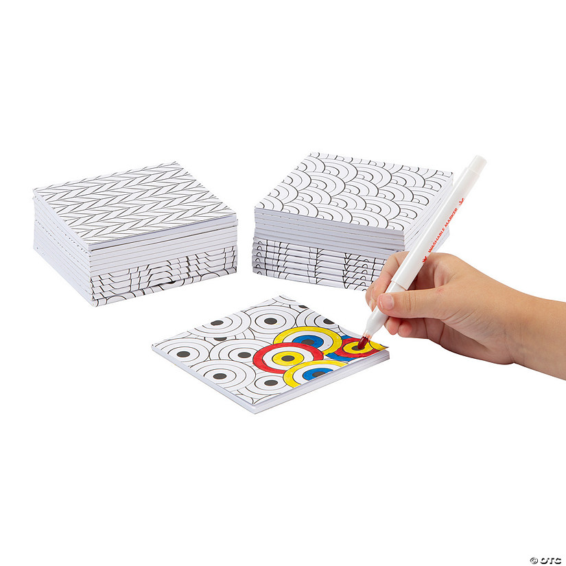 Color Your Own Doodle Notepads