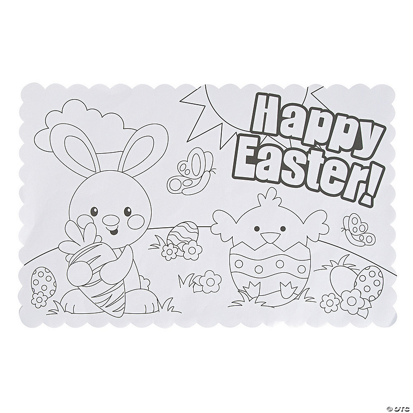 Color Your Own Easter Placemats