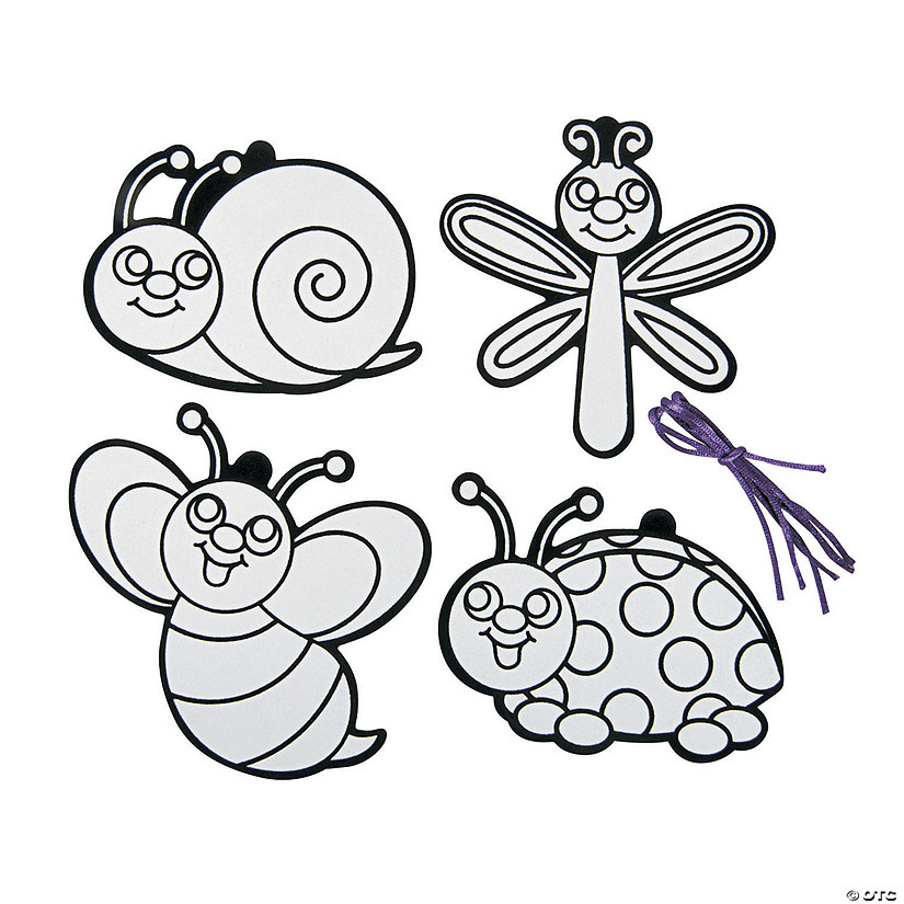 Color Your Own Religious Christmas Ornaments: Color Your Own Fuzzy Bug Ornaments